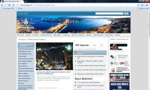 İstanbul Büyükşehir Belediyesi Resmi Web Sitesi Görüntüsü 30 Aralık 2009