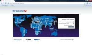Türk Hava Yolları Web Sitesi 30 Aralık 2009