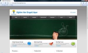 Eğitim Her Engeli Aşar Web Sitesi 3 Ocak 2010